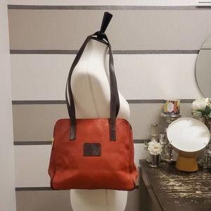Valentina-Genuine Leather Rust Zipper Shoulder Bag